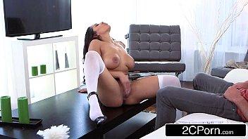 Acervo porno empregada bunduda quicando na rola do patrão