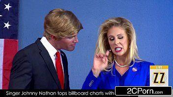 Videos nacionais das candidatas a presidência com o trump