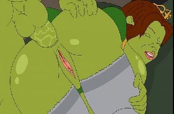 Shrek fodendo Fiona no pornô desenho grátis